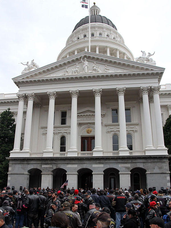 Biker-Rally-at-Cal-State-Ca