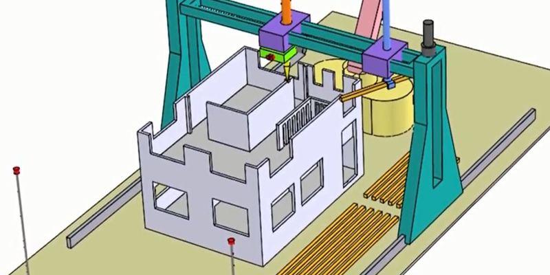 Зд принтер для строительства