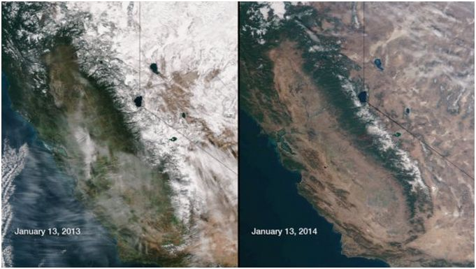 california-snow-drought-extreme-critical-fire-risk-los-angeles-san-francisco-oakland-january-2014