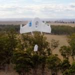 экспериментальный дрон Google доставляет посылку в Австралии.