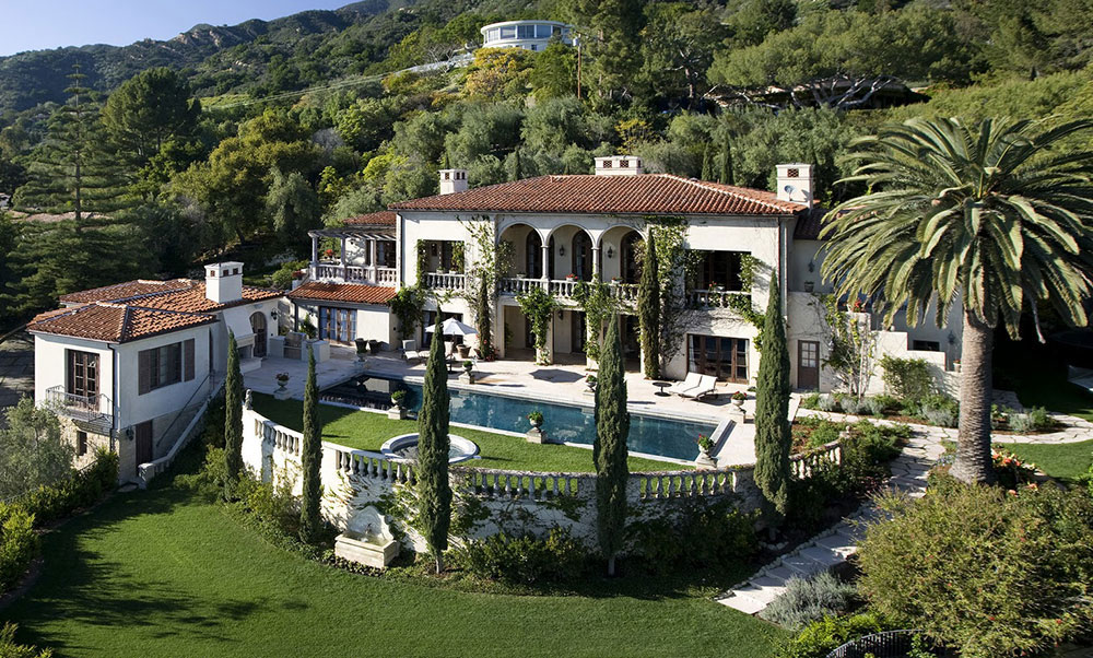 Rich And Famous Santa Barbara Mansion Architecture