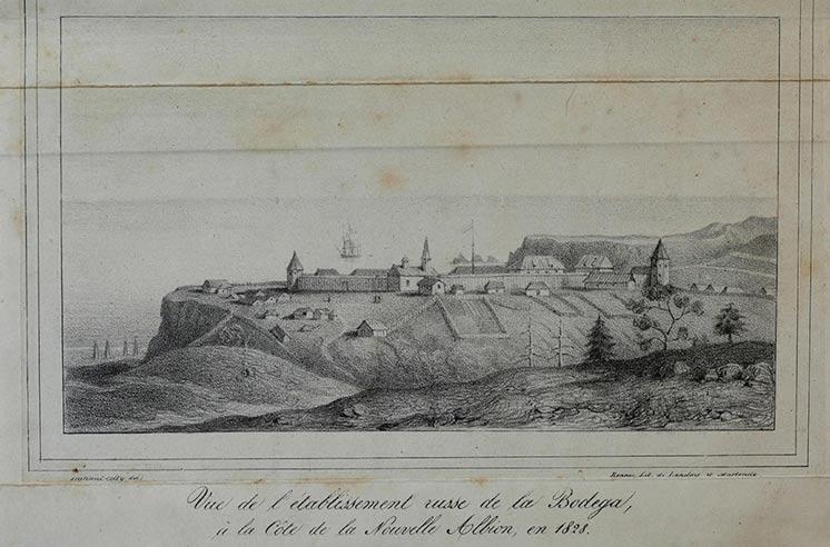 Вид на Форт-Росс, 1828 | ФОТО: A. B. Duhaut-Cilly/Fort Ross Historical Society © Wikipedia