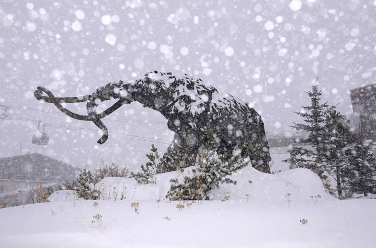 снегопад в Калифорнии