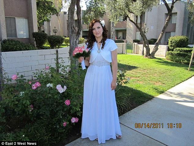 Татьяна Черных в свадебном платье
