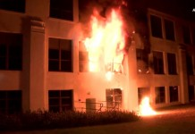 Подросток поджог здание школы в Лос-Анджелесе