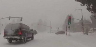 снег В Калифорнии
