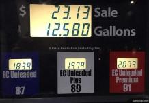 Цены на бензин в Калифорнии