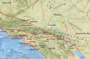 В Люцерн Вэли произошло землетрясение магнитудой 4.3 балла