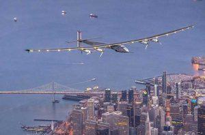 Самолет на солнечных батареях пересек Тихий океан и приземлился в Маунтин-Вью