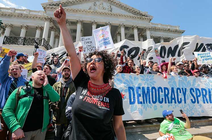 Неменее четырехсот человек задержаны устен Конгресса США вВашингтоне