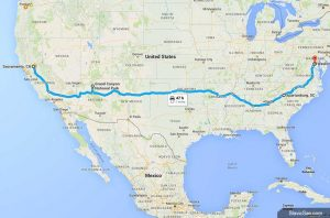 Путешествие из Сакраменто в Вашингтон