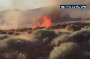 На юге Калифорнии засняли на видео злоумышленника-поджигателя