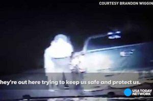 Полицейский расплакался во время молитвы водителя на дороге