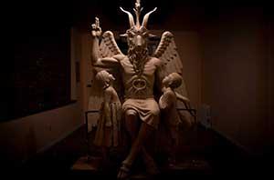 """В Детройте в """"Храме дьявола"""" установили статую Сатаны"""