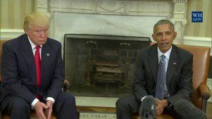Избранный президент Дональд Трамп впервые посетил Белый дом