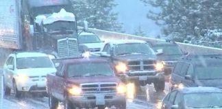 Снежная буря в Сьерра-Неваде