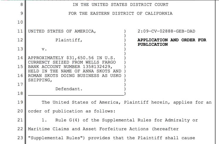 USKO Shipping US Court