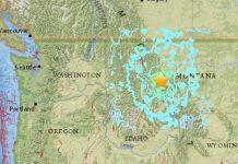 Землетрясение в Монтане
