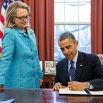 Barak Obama and Hillary Clinton